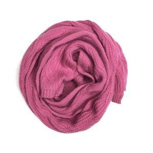 Nordstrom 100% Cashmere Knit Scarf Pink | i643